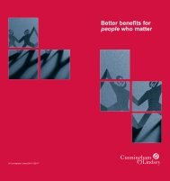 Better benefits for people who matter - Cunningham Lindsey