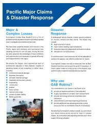 Pacific Major Claims & Disaster Response