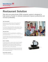 Restaurant Solution (PDF) - Bank of America Merchant Services