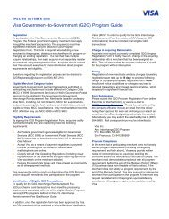 Visa Government-to-Government (G2G) Program Guide