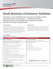 Small Business eCommerce Solutions - Bank of America Merchant ...