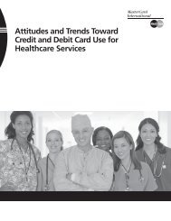 Attitudes and Trends Toward Credit and Debit Card Use for Healthcare Services