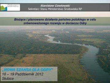 """""""NOWA SZANSA DLA ODRY"""" 18 – 19 Październik 2012 Słubice"""