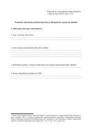 Formularz informacji przedstawianych przy ubieganiu się o pomoc ...
