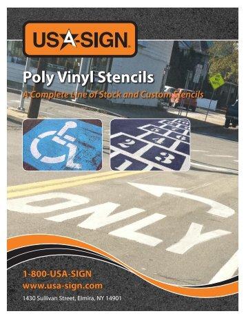 Poly Vinyl Stencils