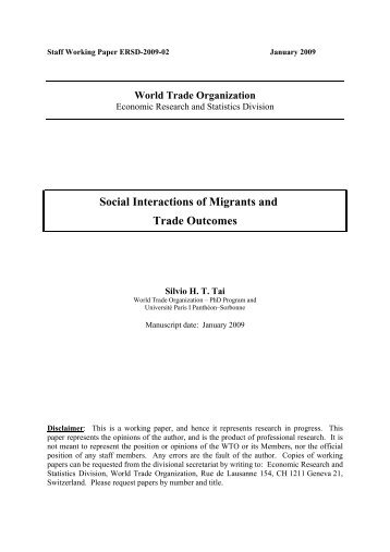 Social Interactions of Migrants and Trade Outcomes