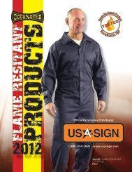 Flame Resistant Products - USA Sign