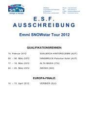 ESF AUSSCHREIBUNG Emmi SNOWstar Tour 2012 ...