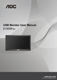 USB Monitor User Manual E1659FWU
