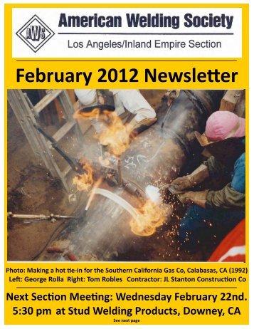 February 2012 Newsle0er