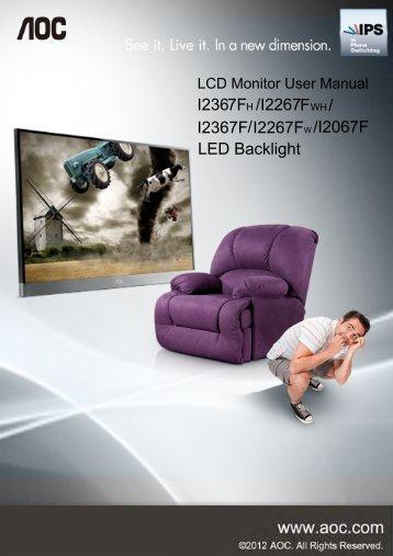 /I2267FWH/ I2367F/I2267FW/I2067F LED Backlight
