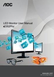 LED Monitor User Manual 2352Phz