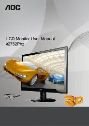 LCD Monitor User Manual 2752Phz