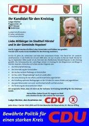 Bewährte Politik für einen starken Kreis - CDU Fraktion Hörstel