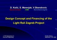 Design Concept and Financing of the Light Rail Zagreb Project