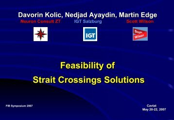 Feasibility of Strait Crossings Solutions