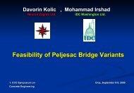 Feasibility of Peljesac Bridge Variants