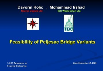 Feasibility of Peljesac Bridge Variants