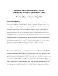 Inventory of Depressive Symptomatology (IDS) and ... - IDS/QIDS