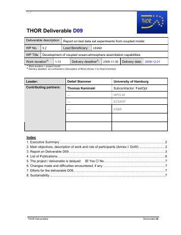THOR Deliverable D09