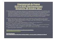 Championnat de France RUN & BIKE Oberhausbergen Dimanche 28 Octobre 2012