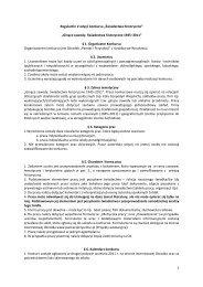 Regulamin Konkursu - V edycja - Ośrodek Pamięć i Przyszłość