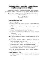 Zobacz plan konferencji - Ośrodek Pamięć i Przyszłość