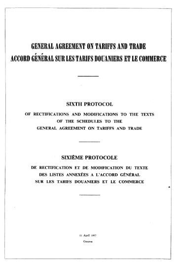general agreement on tariffs and trade in 1 the general agreement on tariffs and trade ('gatt') was originally designed as a temporary multilateral agreement to protect tariff concessions until the planned international trade organization ('ito') would come into force.