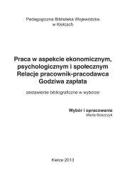 Praca w aspekcie ekonomicznym, psychologicznym i społecznym ...