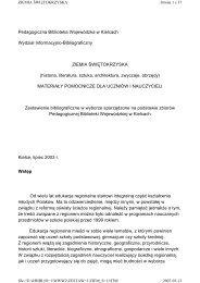 Ziemia świętokrzyska - Pedagogiczna Biblioteka Wojewódzka w ...