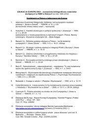 EDUKACJA EUROPEJSKA – zestawienie bibliograficzne ... - Kielce