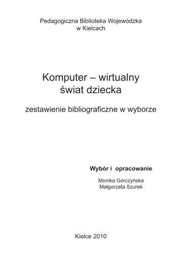 Komputer – wirtualny świat dziecka
