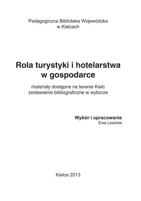 Rola turystyki i hotelarstwa w gospodarce