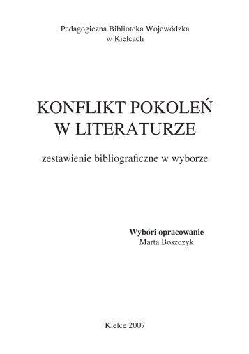 KONFLIKT POKOLEŃ W LITERATURZE