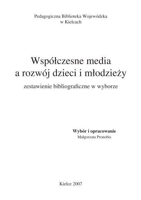 Współczesne media a rozwój dzieci i młodzieży