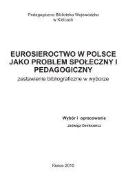 EUROSIEROCTWO W POLSCE JAKO PROBLEM SPOŁECZNY I PEDAGOGICZNY