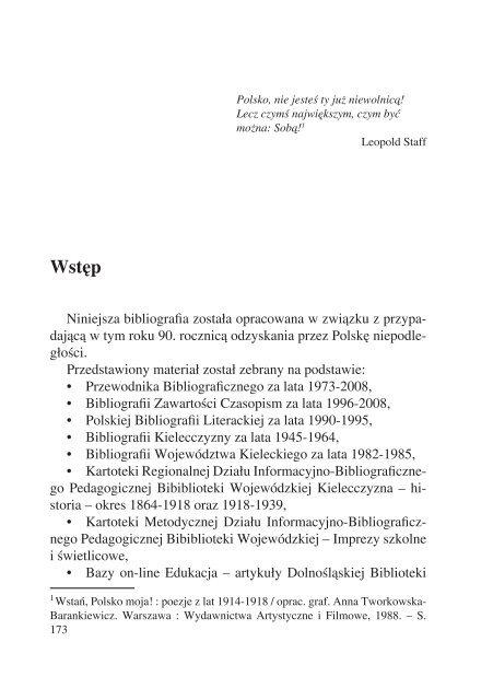 Odzyskanie niepodległości - Pedagogiczna Biblioteka Wojewódzka ...