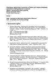 Zawodowe szkolnictwo muzyczne - Pedagogiczna Biblioteka ...