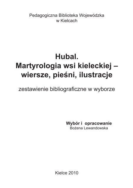 Hubal Martyrologia Wsi Kieleckiej Wiersze Pieśni Ilustracje