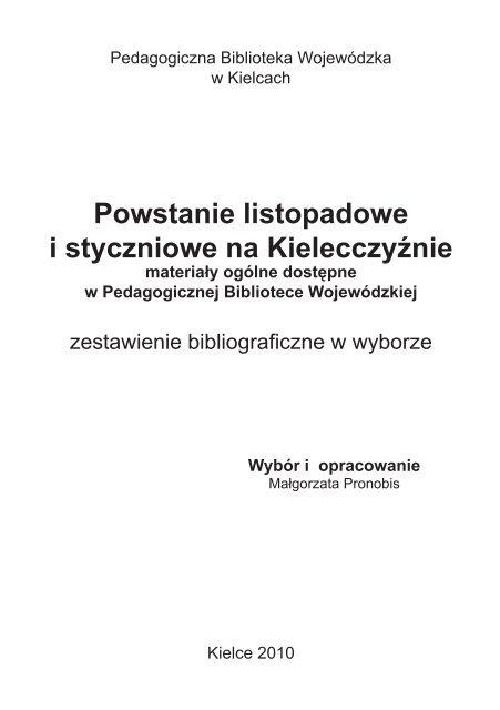 Powstanie listopadowe i styczniowe na Kielecczyźnie