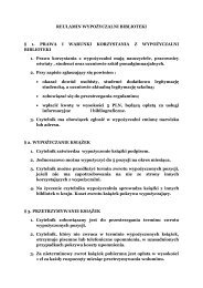 REULAMIN WYPOŻYCZALNI BIBLIOTEKI § 1. PRAWA I ... - Kielce