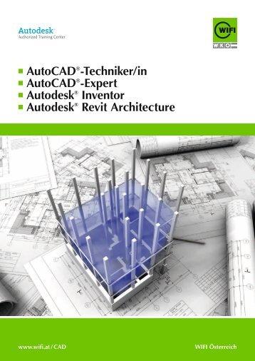 AutoCAD®-techniker/in AutoCAD®-expert Autodesk® Inventor - Wifi