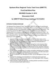 SRRTTF Work Plan Draft 10-05-12 - Spokane River Regional Toxics ...