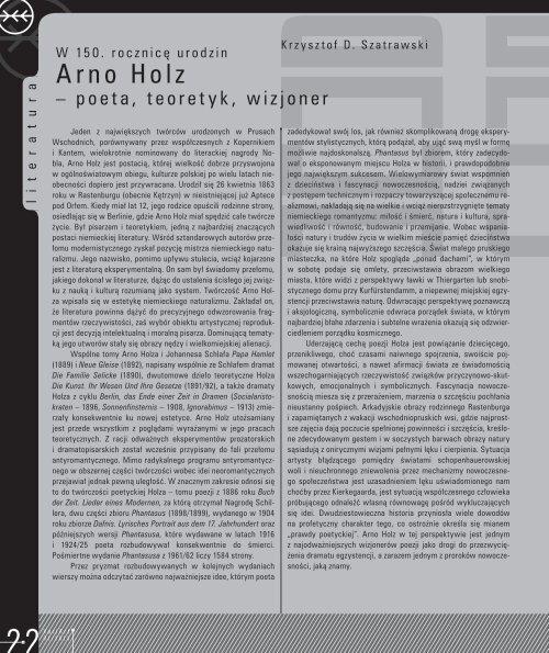 1/2013 - plik pdf (10 840 706 bajtów) - Wojewódzka Biblioteka ...
