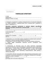 formularz ofertowy