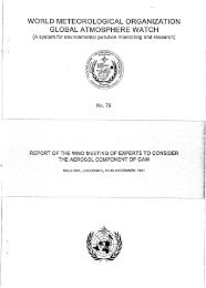 WORLD METEOROLOGICAL ORGANIZATION GLOBAL - WMO