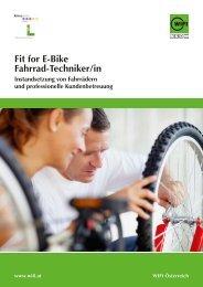 Fit for e-Bike Fahrrad-techniker/in Instandsetzung von ... - Wifi