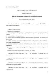 1 Dz.U. 2004 Nr 220, poz. 2237 ROZPORZĄDZENIE MINISTRA ...