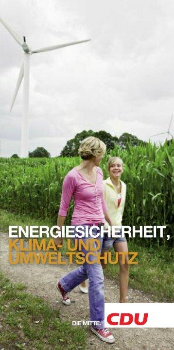 ENERGIESICHERHEIT KLIMA- UND UMWELT SCHUTZ