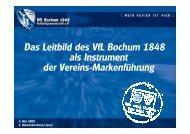 Das Leitbild des VfL Bochum 1848 als Instrument der Vereins-Markenführung